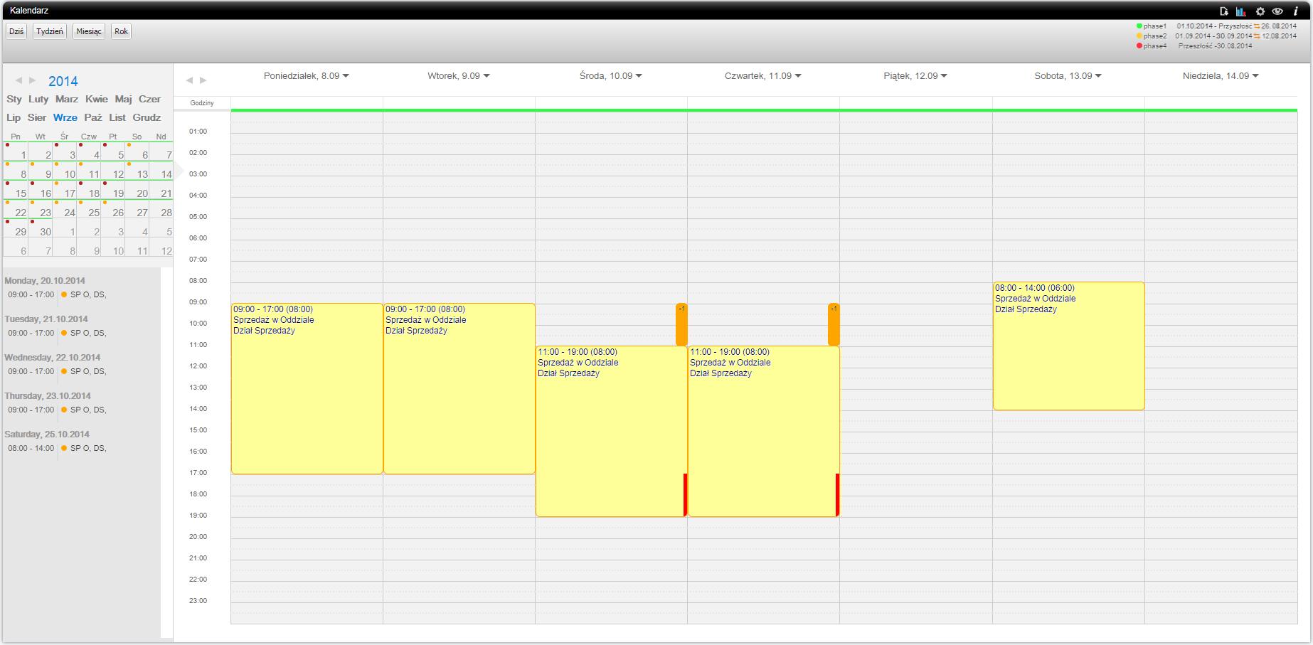calendar understaffing